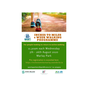 Inches to Miles Walking Programme in Marlay Park