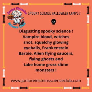 Science Halloween Camps for Kids - Award winning hands-on STEM for children
