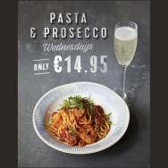 Pasta & Prosecco Wednesday at Jamie's Italian Dundrum